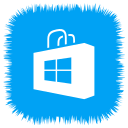 media, social, store, windows icon
