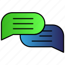 chat, communication, message, speech icon