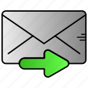 communication, email, envelope, mail, send icon