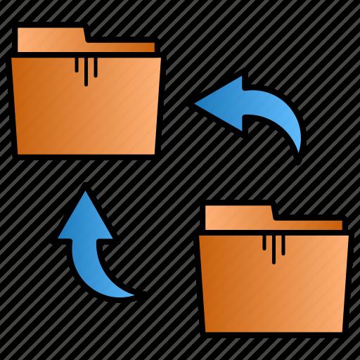 allocate, archive, folder, rotate icon
