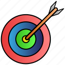 achievement, arrow, dart, game, gool icon