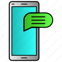 chat, communication, message, mobile, phone icon