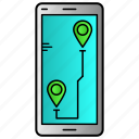 gps, location, mobile, tracking icon