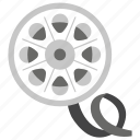 cinema reel, film reel, movie film, movie reel, reel icon