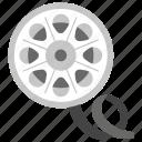 cinema reel, film reel, movie film, movie reel, reel