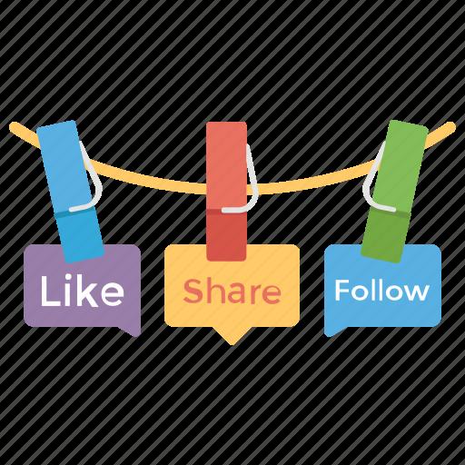 5561fee8448 Banners, follow us, like, marketing, social media icon
