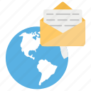 email, global correspondence, global email, global marketing, newsletter icon