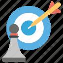 action plan, aim, business target, strategic goal, strategic target icon