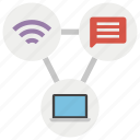 links, media connection, media network, social media, social network icon