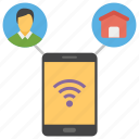 mobile connection, mobile wifi, wifi access, wifi connection, wifi service, wireless service icon