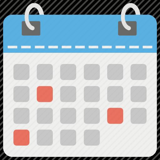 agenda calendar chronology logbook time timetable icon