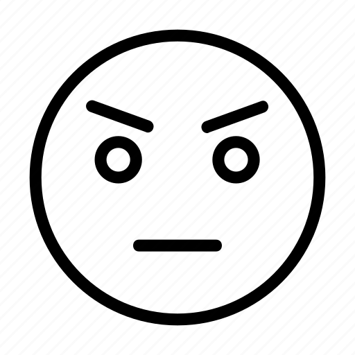 Angry, emoji, emoticon, face, smiley icon - Download on Iconfinder