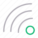 connection, rss, signal, wifi, wireless icon