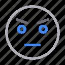 angry, emoji, emoticon, face, smiley icon