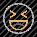 emoji, face, happy, laugh, smiley icon