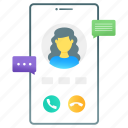 video call, live talk, live messages, mobile messages, video chatting icon