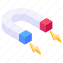 attraction, inbound marketing, magnet, horseshoe magnet, magnetic force icon