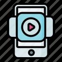 playlist, video, player, phone