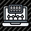network, server, data, connection, laptop