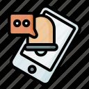 notification, message, phone, smartphone, bubble