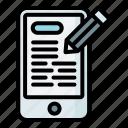 write, content, blog, post, phone