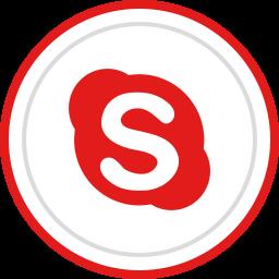 brand, logo, media, skype, social icon