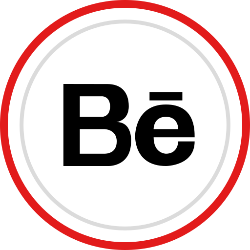 behance, brand, logo, media, social icon