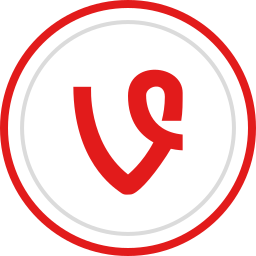 brand, logo, media, social, vine icon