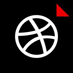 brand, dribbble, logo, media, social icon