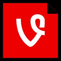 brand, logo, media, social, vine icon