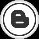 blogger, logo, media, online, social icon