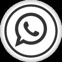 logo, media, online, social, whatsapp icon
