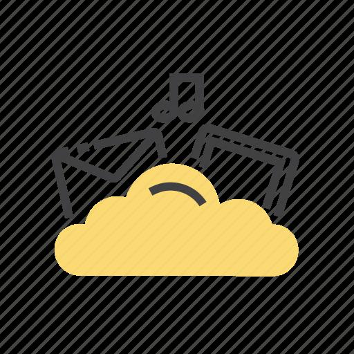 cloud, computing, database, file, storage icon