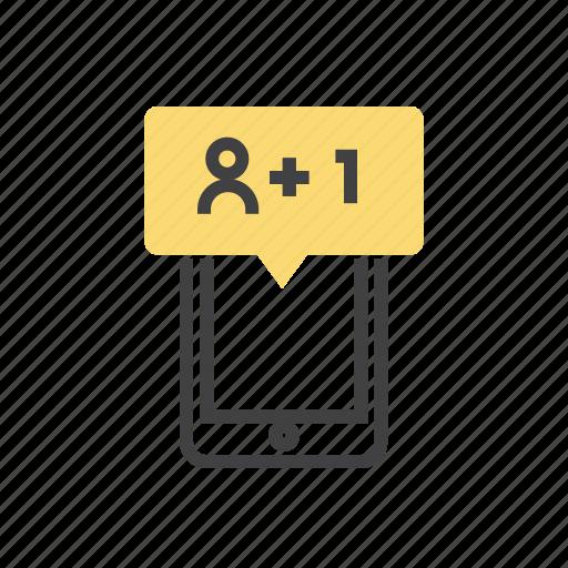 follow, following, person, profile, user icon