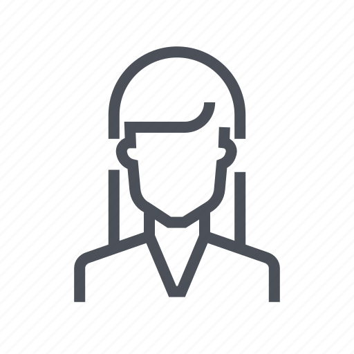 account, avatar, female, person, profile, user icon