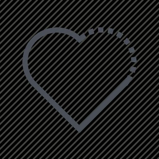 favorite, heart, like, romantic, valentine icon