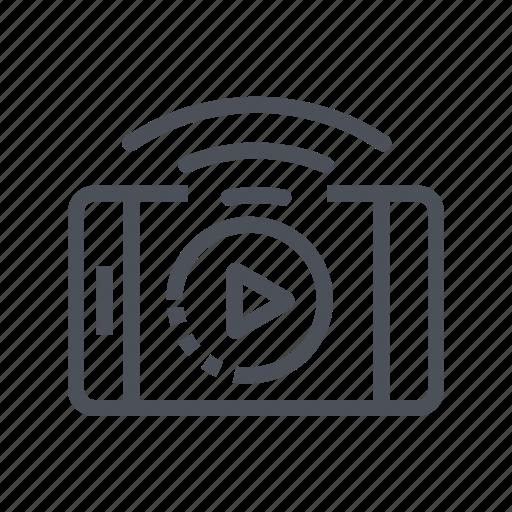 live, media, movie, streaming, video icon