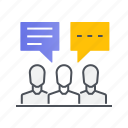 communication, dialogue, discussion, forum, message icon