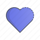 heart, like, love, romance, valentine icon