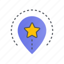 location, navigation, pin, pointer icon