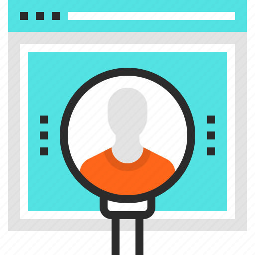 find, friend, media, people, search, social, web icon