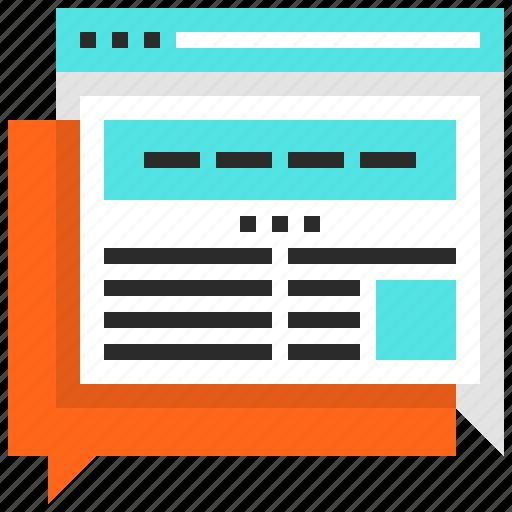 Blog, communication, conversation, discussion, forum, online, web icon - Download on Iconfinder