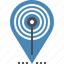 hotspot, internet, location, map, marker, pointer, wifi icon