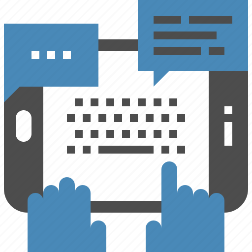 chatting, communication, conversation, media, social, tablet, talk icon
