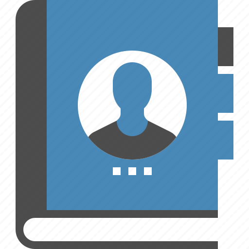 address, book, contact, contacts, list, notebook, people icon