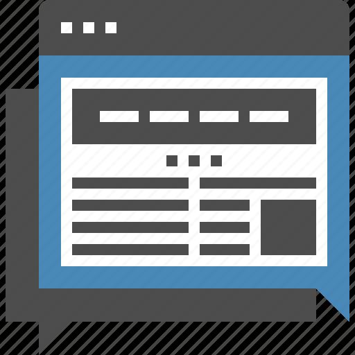 blog, communication, conversation, discussion, forum, online, web icon