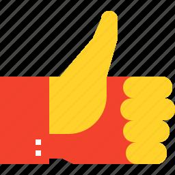 agree, favorite, gesture, good, like, thumb, up, vote icon