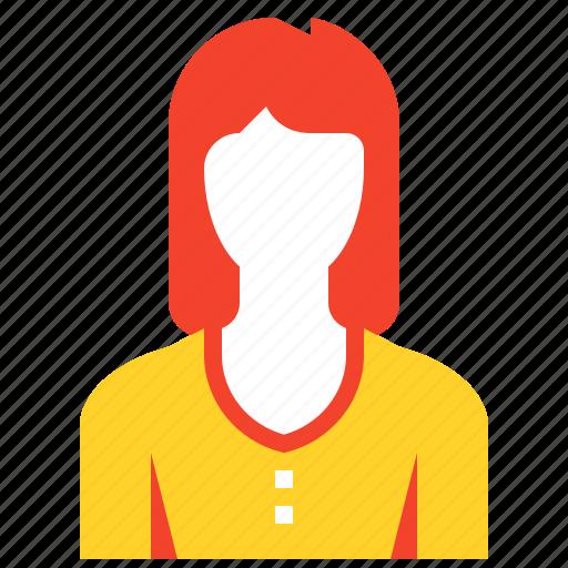 account, avatar, female, human, person, profile, user icon