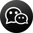 black white, circle, high quality, long shadow, social, social media, wechat icon