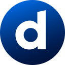 circle, colored, dailymotion, gradient, media, social, social media icon